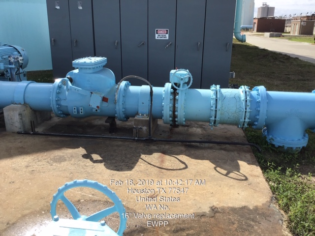 "WA No. 16"" Valve replacement  EWPP"